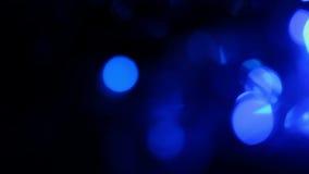 Μπλε φω'τα Defocused, υπόβαθρο κινήσεων απόθεμα βίντεο
