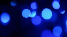 Μπλε φω'τα Defocused, υπόβαθρο κινήσεων φιλμ μικρού μήκους