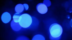 Μπλε φω'τα Defocused απόθεμα βίντεο