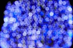 Μπλε φω'των Χαρούμενα Χριστούγεννας Στοκ Εικόνα