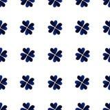 Μπλε φύλλα τριφυλλιού τέσσερις-φύλλων Watercolor ανασκόπηση ημέρα Πάτρικ ST φιλανθρωπία Χρωματισμένη χέρι απεικόνιση Στοκ Εικόνες