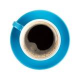 Μπλε φλυτζάνι καφέ Στοκ Φωτογραφίες