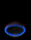 Μπλε φλόγα από τον εκλεκτής ποιότητας καυστήρα σειράς αερίου Στοκ φωτογραφίες με δικαίωμα ελεύθερης χρήσης