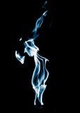 Μπλε φλόγα της πυρκαγιάς σε ένα μαύρο υπόβαθρο Στοκ Εικόνες