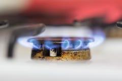 Μπλε φλόγα της πυρκαγιάς φυσικού αερίου ως υπόβαθρο Στοκ Φωτογραφία