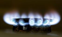 Μπλε φλόγα της πυρκαγιάς φυσικού αερίου ως υπόβαθρο Στοκ φωτογραφία με δικαίωμα ελεύθερης χρήσης