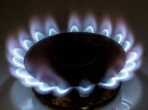 Μπλε φλόγα της πυρκαγιάς φυσικού αερίου ως υπόβαθρο Στοκ Εικόνες