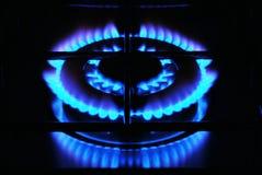 μπλε φλόγα Στοκ Εικόνα