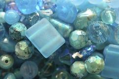 Μπλε χάντρες Στοκ φωτογραφία με δικαίωμα ελεύθερης χρήσης