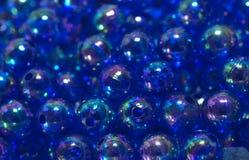 Μπλε χάντρες στοκ φωτογραφίες με δικαίωμα ελεύθερης χρήσης