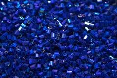 Μπλε χάντρες στοκ εικόνα