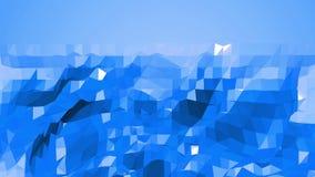Μπλε χαμηλή πολυ επιφάνεια κυματισμού ως αφηρημένο σκηνικό Μπλε polygonal γεωμετρικό δομένος περιβάλλον ή να κυμαθεί ελεύθερη απεικόνιση δικαιώματος