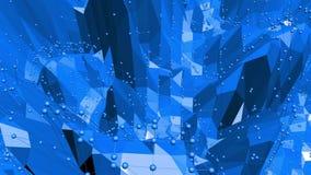 Μπλε χαμηλή πολυ επιφάνεια κυματισμού ως περιβάλλον πολυτέλειας Μπλε polygonal γεωμετρικό δομένος περιβάλλον ή να κυμαθεί ελεύθερη απεικόνιση δικαιώματος