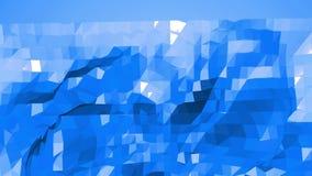 Μπλε χαμηλή πολυ επιφάνεια κυματισμού ως σκηνικό κινούμενων σχεδίων Μπλε polygonal γεωμετρικό δομένος περιβάλλον ή κυμαιμένος υπό διανυσματική απεικόνιση