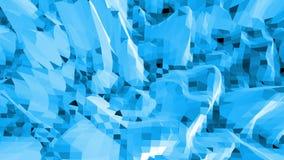 Μπλε χαμηλή πολυ επιφάνεια κυματισμού όπως δροσερό σκηνικό Μπλε polygonal γεωμετρικό δομένος περιβάλλον ή κυμαιμένος υπόβαθρο ελεύθερη απεικόνιση δικαιώματος