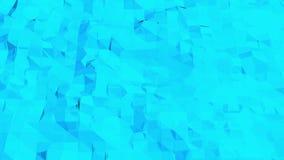 Μπλε χαμηλή πολυ επιφάνεια παραμόρφωσης ως θαυμάσιο υπόβαθρο Μπλε polygonal γεωμετρικό παραμορφώνοντας περιβάλλον ή να κυμαθεί ελεύθερη απεικόνιση δικαιώματος
