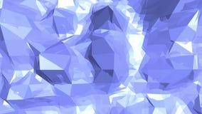 Μπλε χαμηλή πολυ επιφάνεια δόνησης ως τοπίο ή χημική δομή Μπλε polygonal γεωμετρικό δομένος περιβάλλον ή απεικόνιση αποθεμάτων