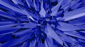 Μπλε χαμηλή πολυ διστάζοντας επιφάνεια ως επιστημονική απεικόνιση Μπλε polygonal γεωμετρικό διστάζοντας περιβάλλον ή να κυμαθεί απεικόνιση αποθεμάτων