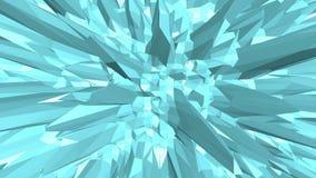 Μπλε χαμηλή πολυ διστάζοντας επιφάνεια ως paysage στο τηλεοπτικό παιχνίδι Μπλε polygonal γεωμετρικό διστάζοντας περιβάλλον ή να κ ελεύθερη απεικόνιση δικαιώματος