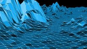 Μπλε χαμηλή πολυ μετατοπιζόμενη επιφάνεια ως λαμπρό υπόβαθρο Μπλε polygonal γεωμετρικό μετατοπιζόμενο περιβάλλον ή να κυμαθεί ελεύθερη απεικόνιση δικαιώματος