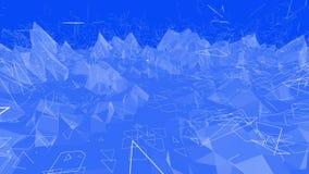 Μπλε χαμηλή πολυ μετατοπιζόμενη επιφάνεια ως ενδιαφέρον σκηνικό Μπλε polygonal γεωμετρικό μετατοπιζόμενο περιβάλλον ή να κυμαθεί διανυσματική απεικόνιση