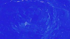 Μπλε χαμηλή πολυ μετατοπιζόμενη επιφάνεια ως ευειδές υπόβαθρο Μπλε polygonal γεωμετρικό μετατοπιζόμενο περιβάλλον ή να κυμαθεί ελεύθερη απεικόνιση δικαιώματος
