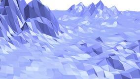 Μπλε χαμηλή πολυ μετατοπιζόμενη επιφάνεια ως δημοφιλές σκηνικό Μπλε polygonal γεωμετρικό μετατοπιζόμενο περιβάλλον ή να κυμαθεί διανυσματική απεικόνιση