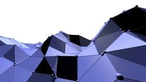 Μπλε χαμηλή πολυ μετατοπιζόμενη επιφάνεια ως θαυμάσιο υπόβαθρο Μπλε polygonal γεωμετρικό μετατοπιζόμενο περιβάλλον ή να κυμαθεί διανυσματική απεικόνιση