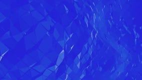 Μπλε χαμηλή πολυ μετατοπιζόμενη επιφάνεια ως διαστημικό σκηνικό Μπλε polygonal γεωμετρικό μετατοπιζόμενο περιβάλλον ή κυμαιμένος  διανυσματική απεικόνιση