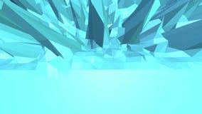 Μπλε χαμηλή πολυ μετατοπιζόμενη επιφάνεια ως κυβερνητικό περιβάλλον Μπλε polygonal γεωμετρικό μετατοπιζόμενο περιβάλλον ή να κυμα διανυσματική απεικόνιση
