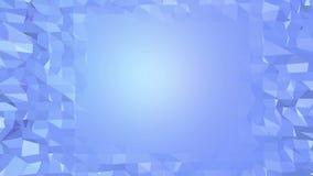 Μπλε χαμηλή πολυ μετατοπιζόμενη επιφάνεια ως σαφές σκηνικό Μπλε polygonal γεωμετρικό μετατοπιζόμενο περιβάλλον ή κυμαιμένος υπόβα ελεύθερη απεικόνιση δικαιώματος