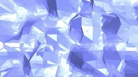 Μπλε χαμηλή πολυ μετατοπιζόμενη επιφάνεια ως σκηνικό κινούμενων σχεδίων Μπλε polygonal γεωμετρικό μετατοπιζόμενο περιβάλλον ή να  ελεύθερη απεικόνιση δικαιώματος