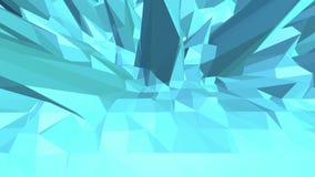 Μπλε χαμηλή πολυ μετατοπιζόμενη επιφάνεια ως φωτεινό σκηνικό Μπλε polygonal γεωμετρικό μετατοπιζόμενο περιβάλλον ή κυμαιμένος υπό ελεύθερη απεικόνιση δικαιώματος