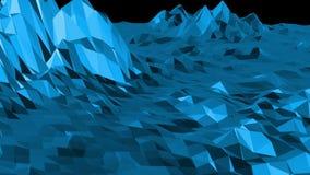Μπλε χαμηλή πολυ μετατοπιζόμενη επιφάνεια όπως δροσερό σκηνικό Μπλε polygonal γεωμετρικό μετατοπιζόμενο περιβάλλον ή κυμαιμένος υ διανυσματική απεικόνιση