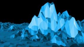 Μπλε χαμηλή πολυ να λάμψει επιφάνεια ως φουτουριστικό υπόβαθρο Μπλε polygonal γεωμετρικό λάμποντας περιβάλλον ή να κυμαθεί απεικόνιση αποθεμάτων