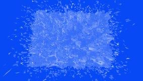 Μπλε χαμηλή πολυ πλαστική επιφάνεια ως αφηρημένο περιβάλλον Μπλε polygonal γεωμετρικό πλαστικό περιβάλλον ή να κυμαθεί διανυσματική απεικόνιση