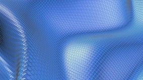 Μπλε χαμηλή πολυ πλαστική επιφάνεια ως ενδιαφέρον περιβάλλον Μπλε polygonal γεωμετρικό πλαστικό περιβάλλον ή να κυμαθεί απεικόνιση αποθεμάτων