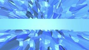 Μπλε χαμηλή πολυ πλαστική επιφάνεια ως περιβάλλον τέχνης Μπλε polygonal γεωμετρικό πλαστικό περιβάλλον ή κυμαιμένος υπόβαθρο ελεύθερη απεικόνιση δικαιώματος