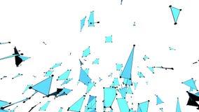 Μπλε χαμηλή πολυ πλαστική επιφάνεια ως περιβάλλον υπολογιστών Μπλε polygonal γεωμετρικό πλαστικό περιβάλλον ή να κυμαθεί απεικόνιση αποθεμάτων