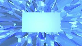 Μπλε χαμηλή πολυ πλαστική επιφάνεια ως σκηνικό κινούμενων σχεδίων Μπλε polygonal γεωμετρικό πλαστικό περιβάλλον ή κυμαιμένος υπόβ απεικόνιση αποθεμάτων