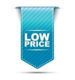 Μπλε χαμηλή τιμή σχεδίου εμβλημάτων ελεύθερη απεικόνιση δικαιώματος