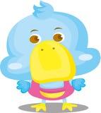 Μπλε χαρακτήρας κινουμένων σχεδίων παπιών Στοκ Εικόνες