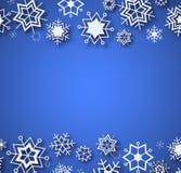 Μπλε χειμερινό σχέδιο με τη θέση για το κείμενο Διανυσματική απεικόνιση