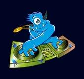Μπλε χιπ χοπ του DJ τεράτων Στοκ φωτογραφία με δικαίωμα ελεύθερης χρήσης