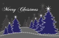 μπλε χριστουγεννιάτικο δέντρο Στοκ εικόνες με δικαίωμα ελεύθερης χρήσης