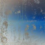 μπλε χρυσός τρύγος προτύπων ανασκόπησης Στοκ Εικόνες