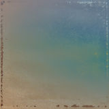 μπλε χρυσός τρύγος προτύπων ανασκόπησης Στοκ Φωτογραφία