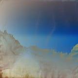 μπλε χρυσός τρύγος προτύπων ανασκόπησης Στοκ φωτογραφίες με δικαίωμα ελεύθερης χρήσης