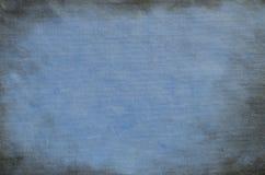 Μπλε χρωματισμένο καλλιτεχνικό υπόβαθρο καμβά Στοκ εικόνα με δικαίωμα ελεύθερης χρήσης