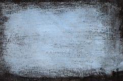 Μπλε χρωματισμένο καλλιτεχνικό υπόβαθρο καμβά Στοκ εικόνες με δικαίωμα ελεύθερης χρήσης
